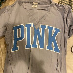 VS Tee Shirt with a V Cut Out